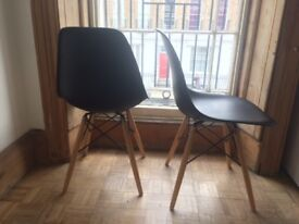Dwell Eiffel dining chairs with beech legs black