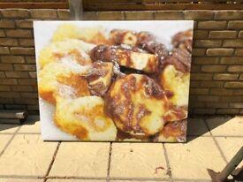 Large Restaurant Cafe Dessert Shop Canvas