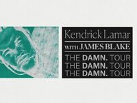 4 x Kendrick Lamar - Floor Standing - 13th February - London O2 - The DAMN Tour