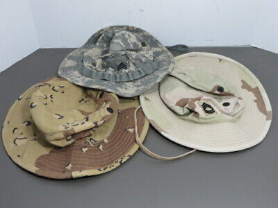 US Army Lot of Three Different Boonie  Hat, DUC, ACU DIGITAL & DS type