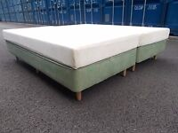 TEMPUR MEMORY FOAM KING SIZE BED,CAN MAKE TWO SINGLE/CAN DELIVER
