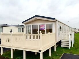 Luxury cheap Static caravan for sale on BEACH PLOT! fishing lake, pet friendly, Decking included!