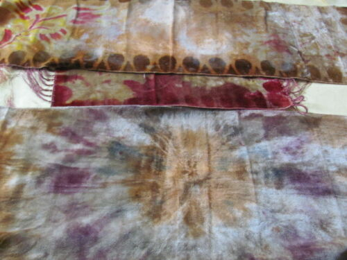 3 antique Victorian velvet runners with fringe for use or craft projects