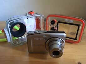 Fujifilm f50 digital camera + underwater camera housing up to 40 meters