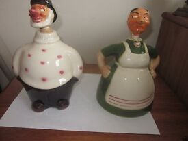 Pair of Danish Novelty Decanters