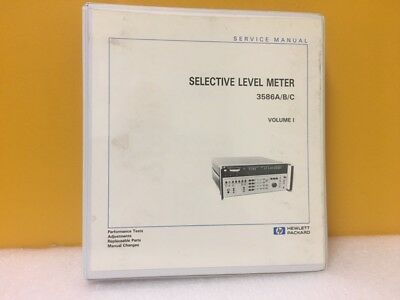Hp Agilent 03586-90002 Selective Level Meter 3586abc Vol 1 Service Manual