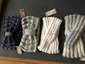 Hand warm wool  Knit womens  headband