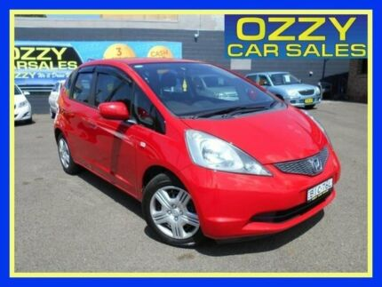 2008 Honda Jazz GE MY09 VTi Red 5 Speed Automatic Hatchback Penrith Penrith Area Preview