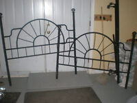 Double Bed Headboard And Footboard Rod Iron