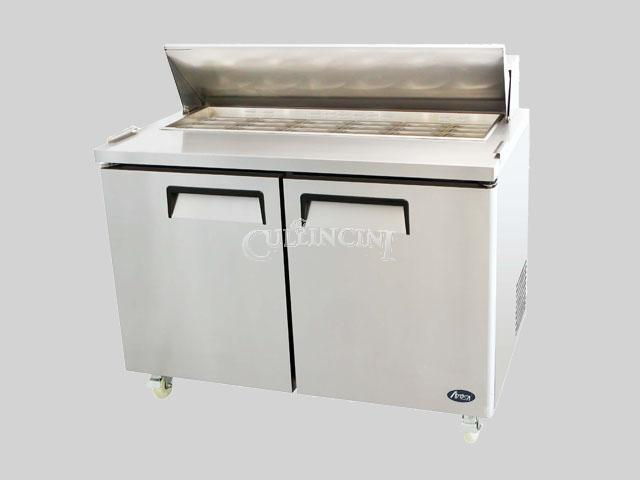 New Atosa Double Two Door Mega Top Salad Prep Table Refrigerator Nsf Msf8306