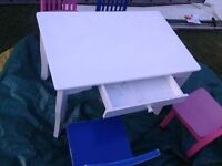 Children's Desk and 4 chairs - Very Sturdy and in Good condition - CAN DELIVER LOCAL