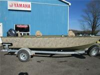 Lund 1800 Alaskan Wetlands Edition with Pre-Owned 50 HP Yamaha