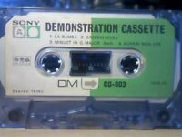 9x RARE 1970s SONY TYPE 1 NORMAL & TYPE 2 CHROME CASSETTE TAPES. DMCD-803, C-90CR, CD-a ALPHA, +MORE
