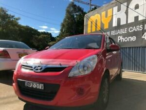 2010 Hyundai i20 PB Active Electric Red 5 Speed Manual Hatchback Islington Newcastle Area Preview