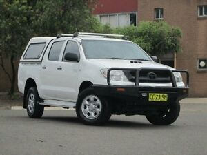 2010 Toyota Hilux KUN26R MY10 SR White 4 Speed Automatic Utility Kings Park Blacktown Area Preview