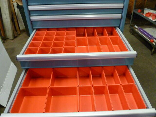 """68pc 3"""" Deep Organizer Storage Bins Toolbox Tray  Dividers fit Lista & Vidmar"""