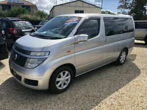 2003 Nissan Elgrand E51 Highway Star Silver 5 Speed Automatic Wagon