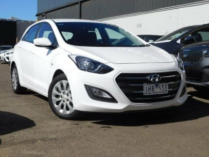 2016 Hyundai i30 GD4 Series II MY17 Active White 6 Speed Sports Automatic Hatchback Fawkner Moreland Area Preview