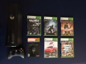Xbox 360, One Controller and Six Games