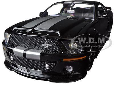 2008 FORD SHELBY MUSTANG GT500KR BLACK 1/24 DIECAST MODEL CAR BY JADA 96729