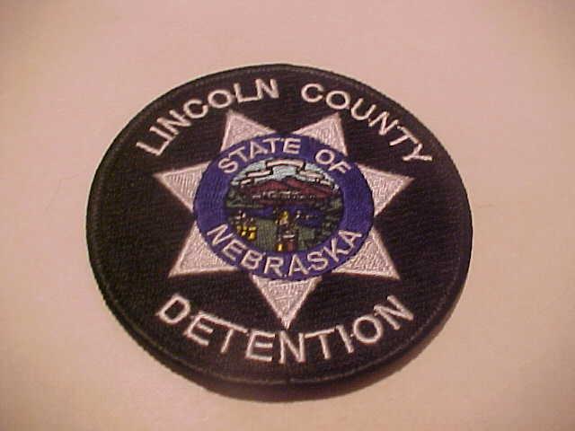 LINCOLN COUNTY NEBRASKA DETENTION POLICE PATCH SHOULDER SIZE NEW