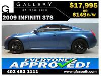 2009 INFINITI G37S *EVERYONE APPROVED* $0 DOWN $149/BW!