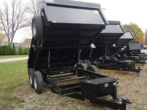 2016 FORCE HDL8612TA4 -12000 LBS Tandem Hydraulic Dump Trailer