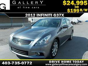 2012 Infiniti G37xS AWD $199 bi-weekly APPLY TODAY DRIVE TODAY