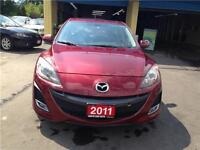 2011 MAZDA 3 GS, AUTO, LEATHER, SUROOF, CERT. 46K,ALLOY