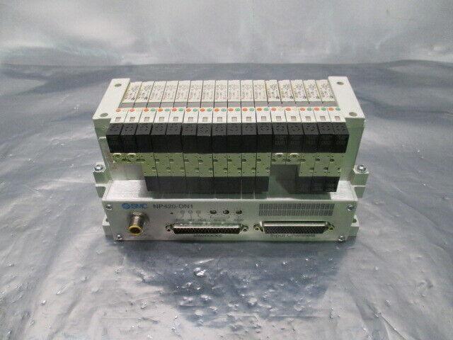 SMC VV5Q11-ULB970095, 16 Valve Pneumatic Manifold w/ NP420-DN1, 423550