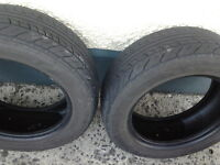 2 X TOURSPORT PARTLY WORN TYRES 195X60XR15