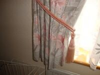 Set of printed Cotton lined Curtains