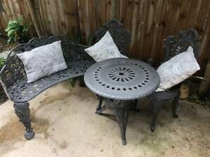 Love Seat, Table and Two Chairs