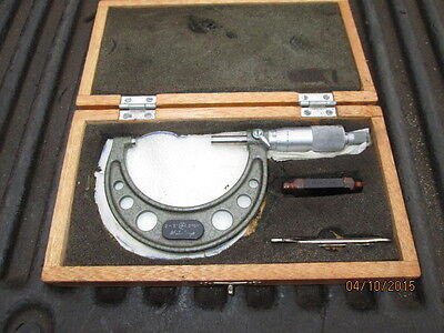 Machinist Tool Lathe Mill Mituotyo 2 To 3 Micrometer In Case