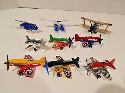 HOT WHEELS MAD PROPZ AIRPLANE LOT OF 6 with 3 BONUS MATCHBOX PLANES & HELICOPTER