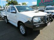 2014 Toyota Hilux KUN26R MY14 SR5 Double Cab White 5 Speed Automatic Utility Mount Gravatt Brisbane South East Preview
