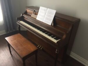 Willis Upright Piano And Bench