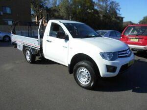 2013 Mitsubishi Triton MN MY13 GLX White 4 Speed Automatic Cab Chassis Bankstown Bankstown Area Preview
