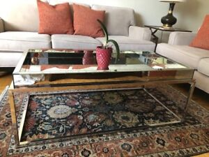 Stunning Antique Mirror Coffee Table