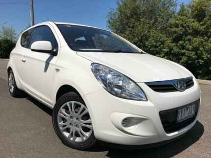 2012 Hyundai i20 PB MY12 Active White 4 Speed Automatic Hatchback Hoppers Crossing Wyndham Area Preview