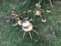 Set of 3 - Brass Lampshades - Dining/Lounge etc