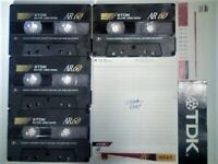 SPRING SALE. TDK AR 60. 1994-1997 CASSETTE TAPES WITH C,C & Ls. C90 ALSO AVAILABLE + MANY OTHER AR's for sale  South Croydon, London