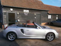 0202 TOYOTA MR2 1.8 VVT-i ROASTER CONVERTIBLE UK CAR 53K FSH 13 SERVICE STAMPS