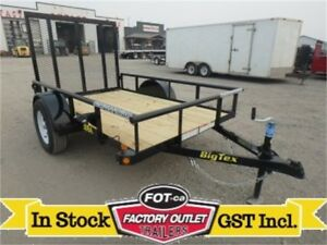 "5 X 8 Single Axle Utility Trailer -*4' Rampgate + 15"" Radials*-"