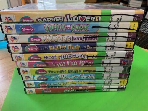 Barney & Friends DVDs Kids Educational Purple Dinosaur Lot of 10