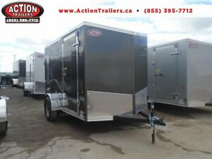 SAVE WITH OUR INSTOCK SPECIALS 6 X 10 ENCLOSED V-NOSE, RAMP DOOR