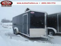 LIGHT WEIGHT 7X18 + V-NOSE ENCLOSED ALUMINUM TRAILER SALE PRICE