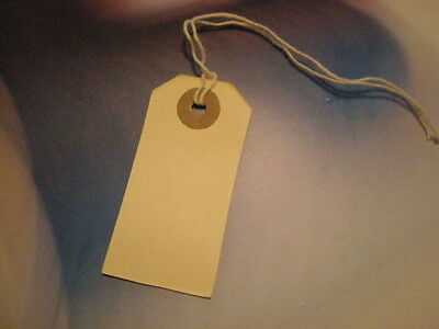 100 Manila Tags With String And Reinforced Eye Size 1  1-38 X 2-34