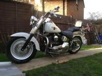 Ultra Rare Condition Harley Davidson Fatboy FLSTFI Custom Motorcycle-Just Had £2400 In Recent Parts