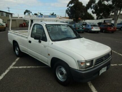 1999 Toyota Hilux RZN149R White 5 Speed Manual Utility Maidstone Maribyrnong Area Preview